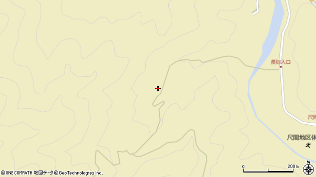 大分県佐伯市弥生大字尺間3315周辺の地図