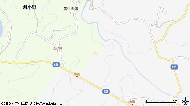 大分県竹田市炭竈23周辺の地図