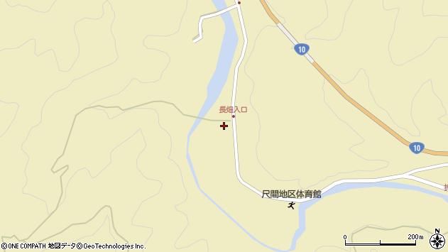 大分県佐伯市弥生大字尺間638周辺の地図