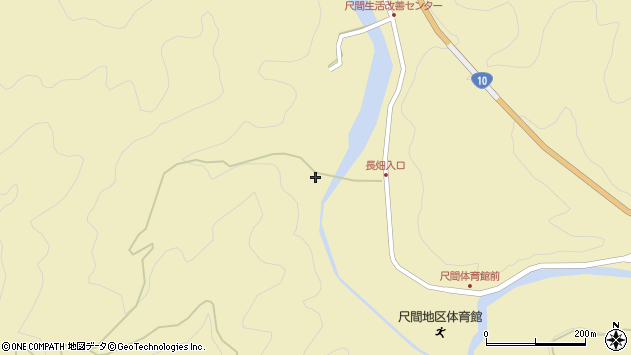 大分県佐伯市弥生大字尺間3213周辺の地図