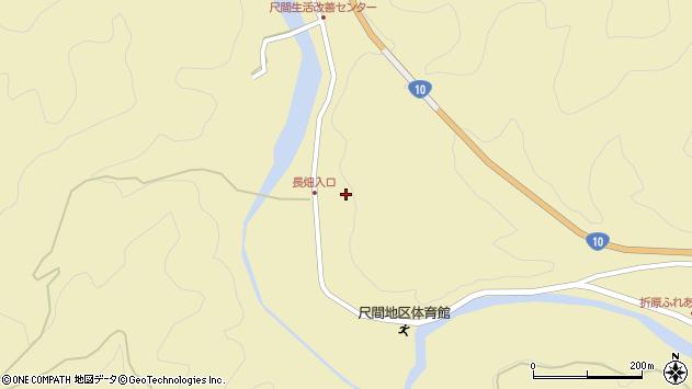 大分県佐伯市弥生大字尺間462周辺の地図