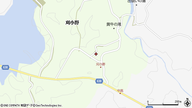 大分県竹田市刈小野249周辺の地図