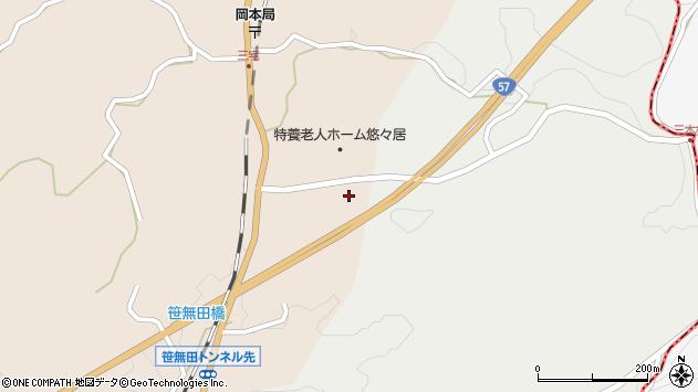 大分県竹田市三宅1780周辺の地図