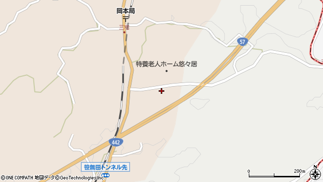 大分県竹田市三宅1785周辺の地図