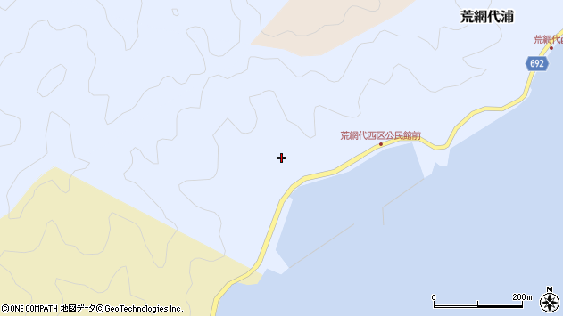 大分県佐伯市荒網代浦652周辺の地図
