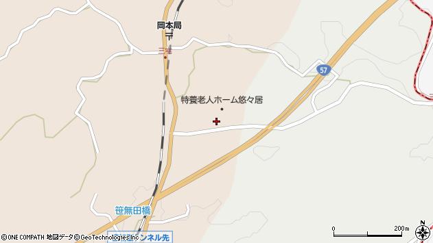 大分県竹田市三宅周辺の地図