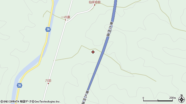大分県佐伯市弥生大字床木692周辺の地図