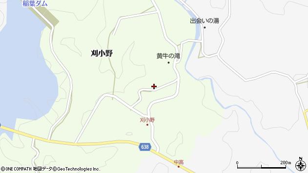 大分県竹田市刈小野271周辺の地図