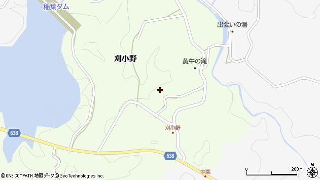 大分県竹田市刈小野260周辺の地図