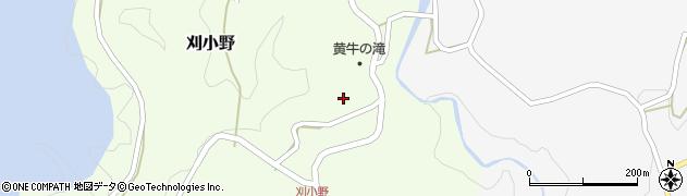 大分県竹田市刈小野周辺の地図