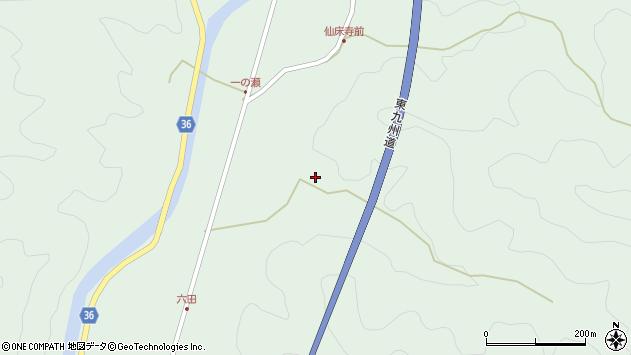 大分県佐伯市弥生大字床木671周辺の地図
