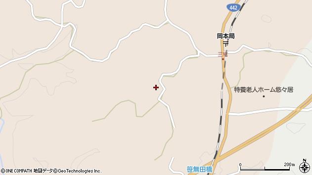 大分県竹田市三宅上坂下周辺の地図