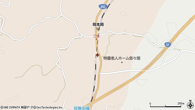 大分県竹田市三宅2066周辺の地図