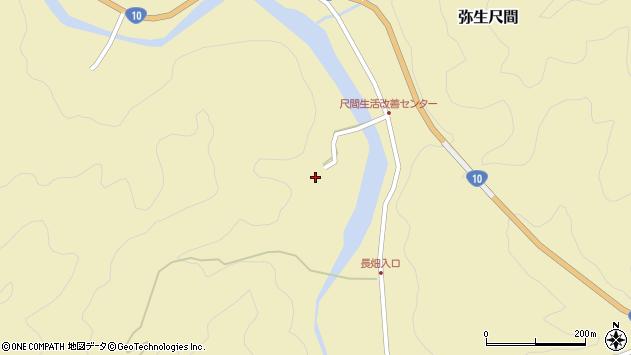 大分県佐伯市弥生大字尺間2959周辺の地図