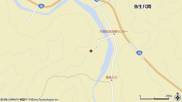 大分県佐伯市弥生大字尺間2960周辺の地図