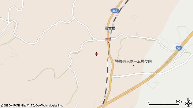 大分県竹田市三宅2105周辺の地図