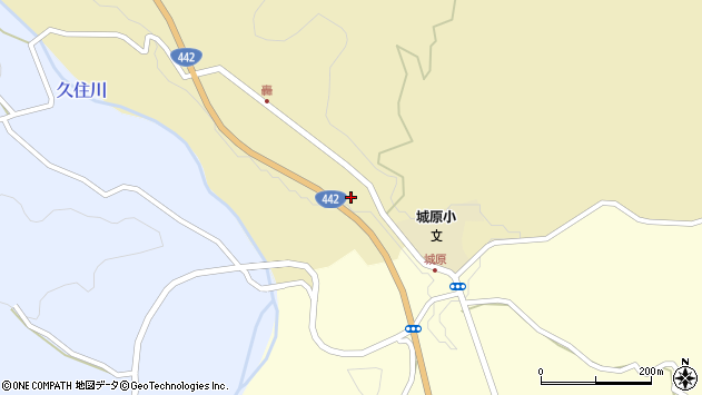 大分県竹田市城原周辺の地図