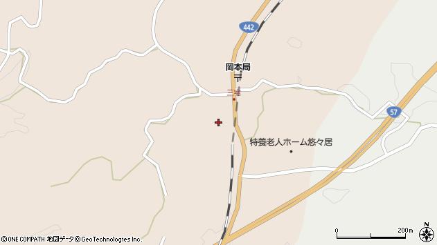 大分県竹田市三宅2078周辺の地図