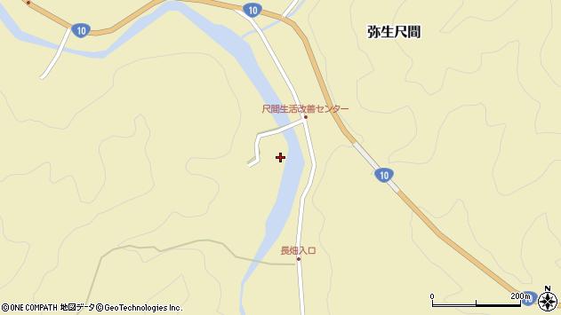 大分県佐伯市弥生大字尺間岡周辺の地図