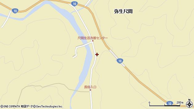 大分県佐伯市弥生大字尺間659周辺の地図