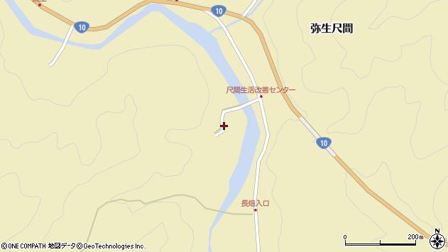 大分県佐伯市弥生大字尺間2950周辺の地図