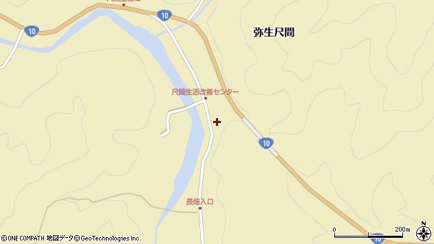 大分県佐伯市弥生大字尺間675周辺の地図
