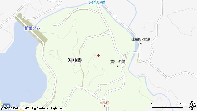 大分県竹田市刈小野296周辺の地図