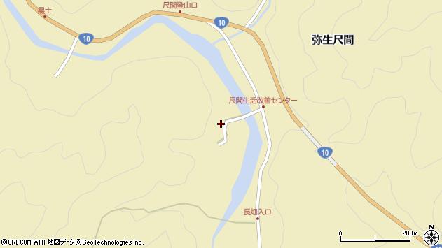 大分県佐伯市弥生大字尺間2929周辺の地図