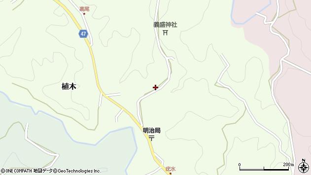 大分県竹田市植木1739-1周辺の地図