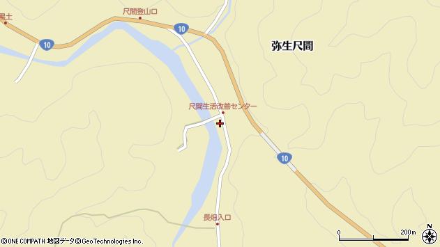 大分県佐伯市弥生大字尺間779周辺の地図