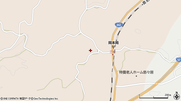 大分県竹田市三宅1543周辺の地図