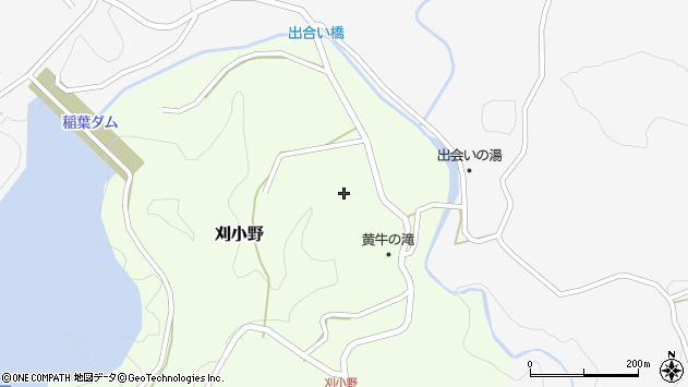 大分県竹田市刈小野326周辺の地図