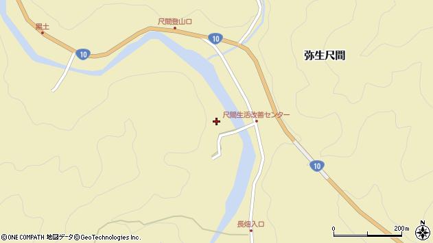 大分県佐伯市弥生大字尺間2930周辺の地図