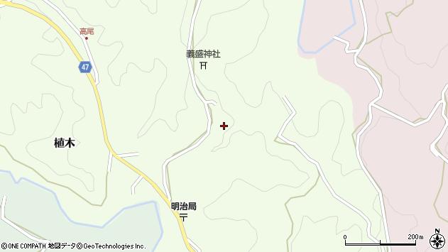大分県竹田市植木鬼田周辺の地図