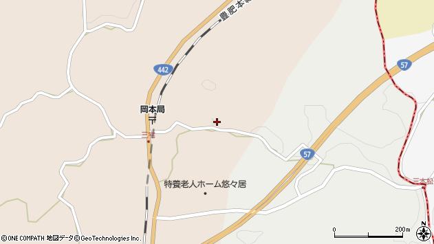 大分県竹田市三宅1601周辺の地図