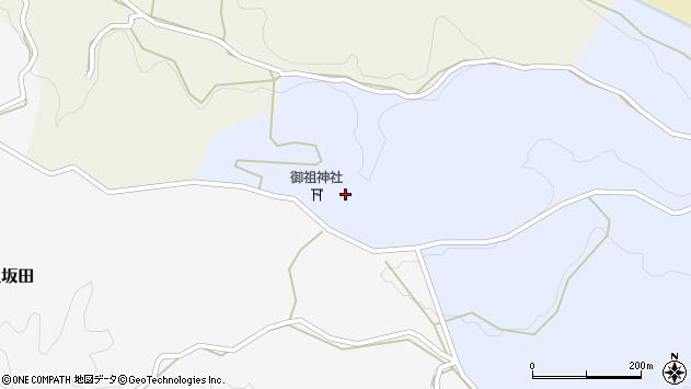 大分県竹田市下坂田上深迫周辺の地図