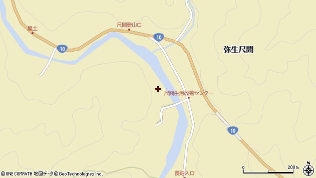 大分県佐伯市弥生大字尺間2927周辺の地図