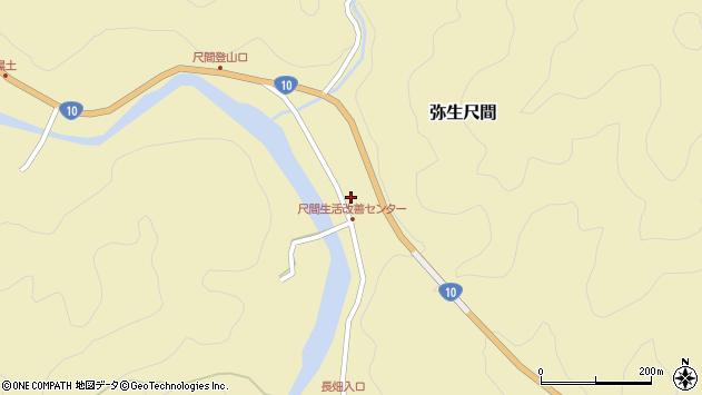 大分県佐伯市弥生大字尺間766周辺の地図