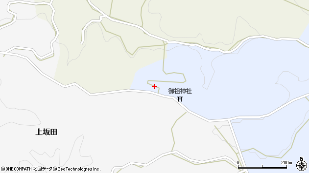 大分県竹田市下坂田1666周辺の地図