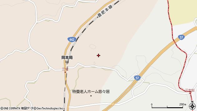 大分県竹田市三宅1606周辺の地図