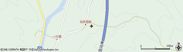 大分県佐伯市弥生大字床木761周辺の地図