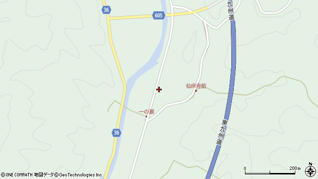 大分県佐伯市弥生大字床木854周辺の地図