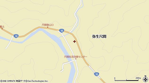 大分県佐伯市弥生大字尺間743周辺の地図