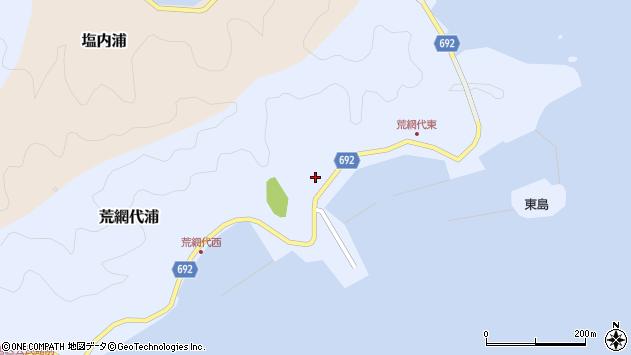 大分県佐伯市荒網代浦166周辺の地図