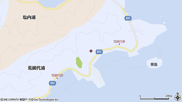 大分県佐伯市荒網代浦158周辺の地図