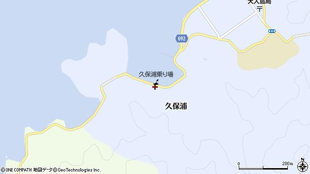 大分県佐伯市久保浦894周辺の地図