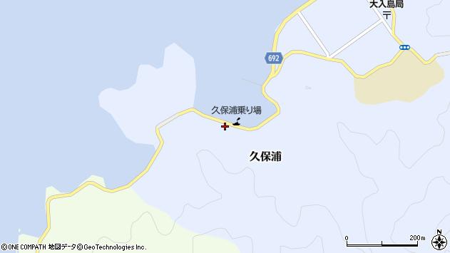 大分県佐伯市久保浦892周辺の地図