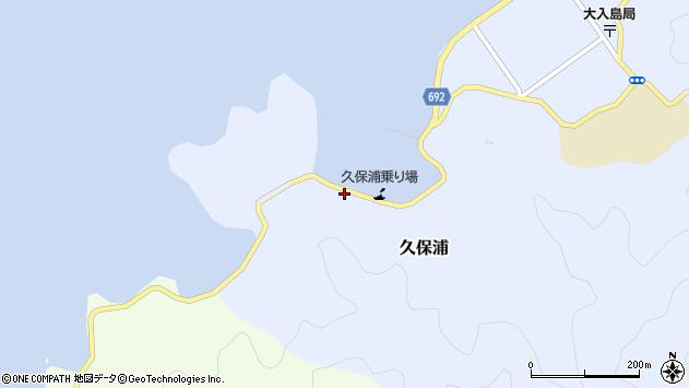 大分県佐伯市久保浦876周辺の地図