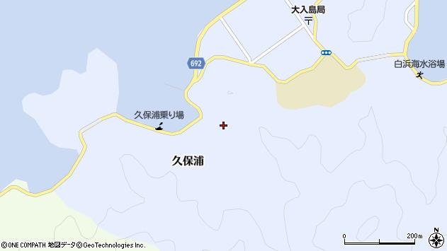 大分県佐伯市久保浦811周辺の地図