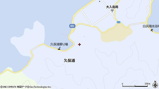 大分県佐伯市久保浦周辺の地図
